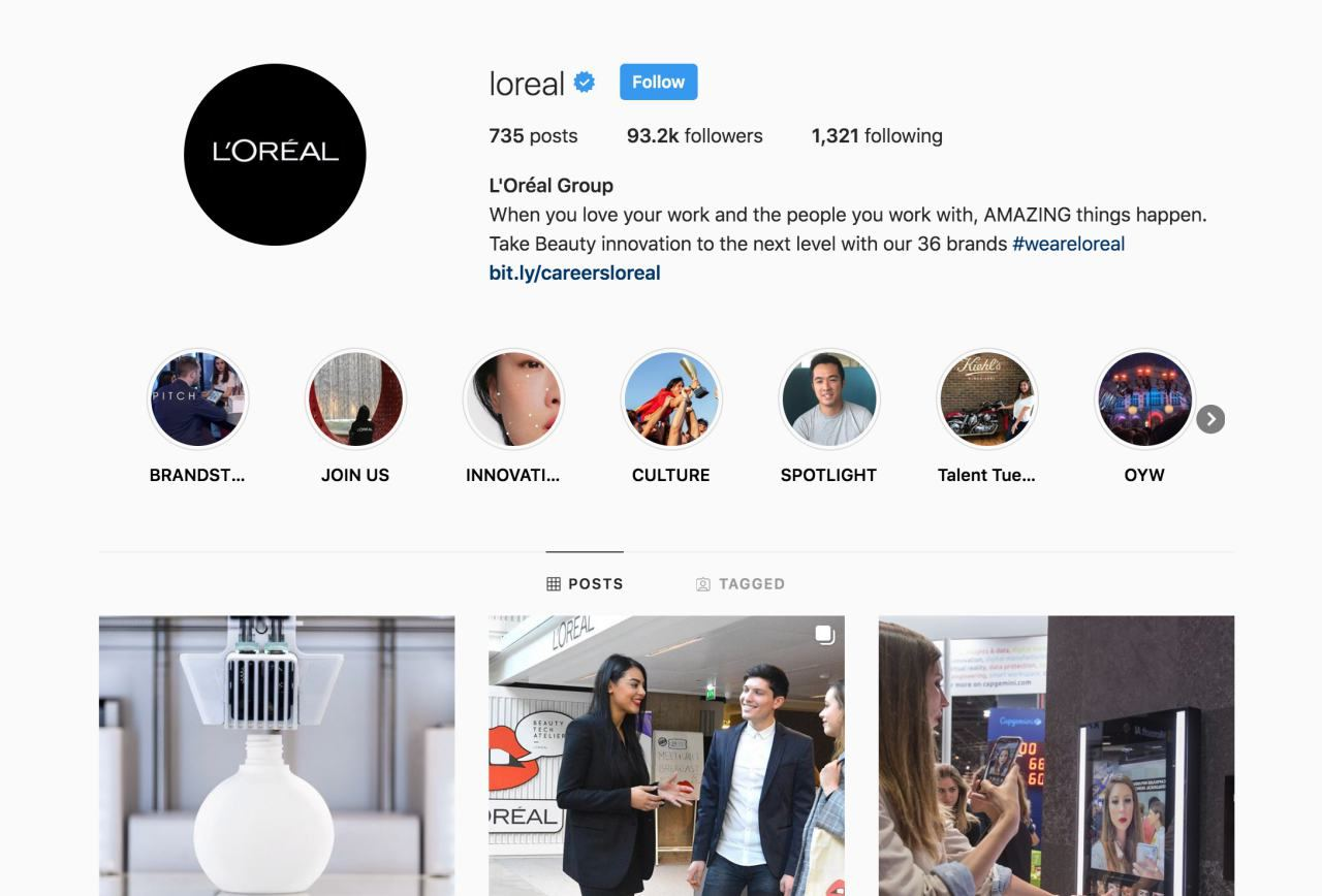 social media branding on instagram